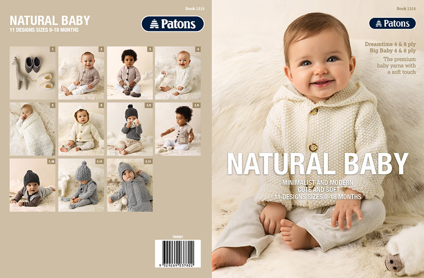 Baby Natural 4 8 Ply Book 1315 Wool World