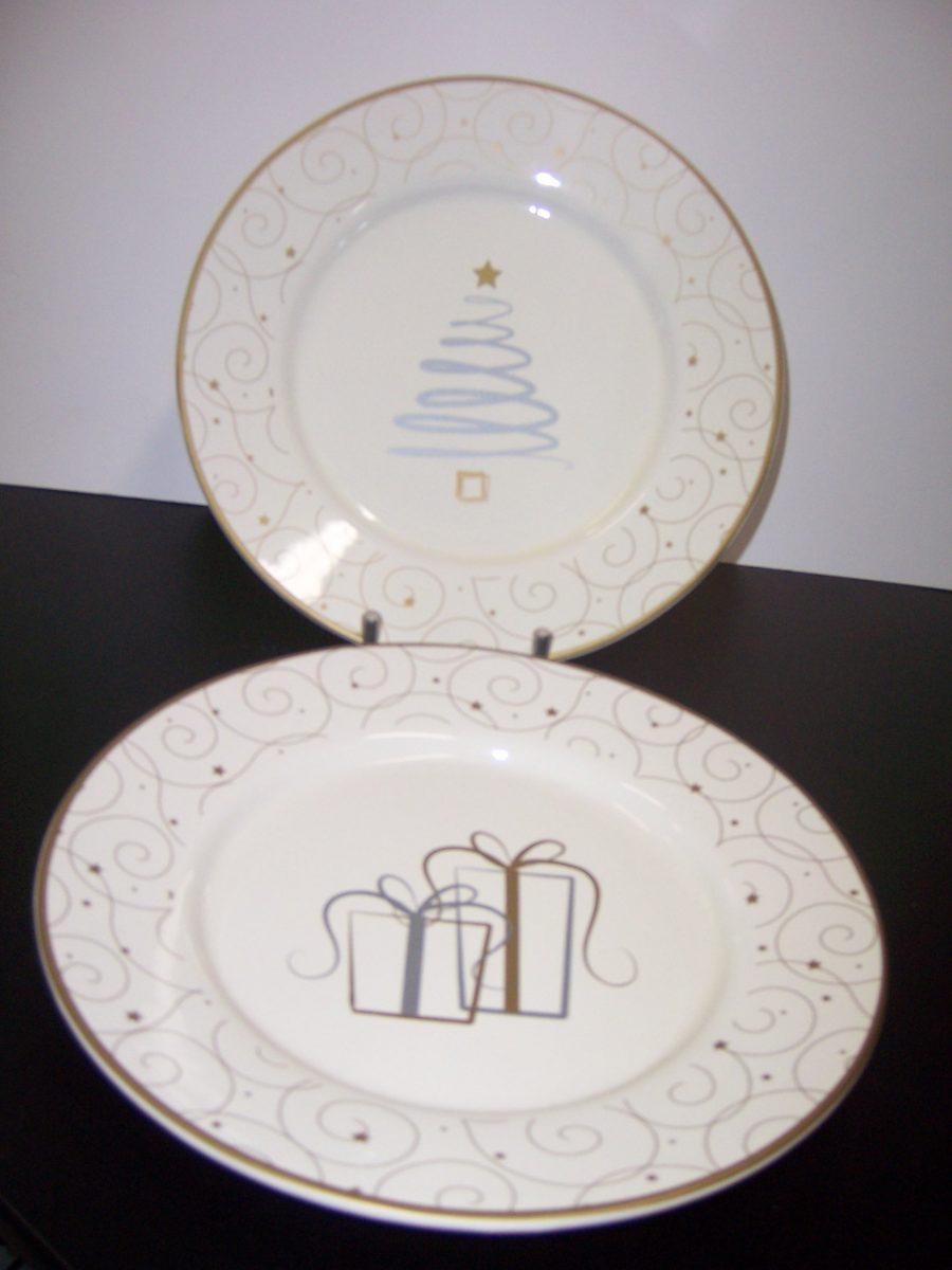 Christmas Plate Set.Xmas Plate Set Of 4 33207